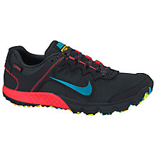 Buy Nike Zoom Wildhorse 2 Men's Trail Running Shoes, Black/Blue/Merlot Online at johnlewis.com
