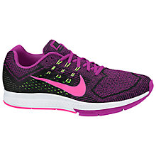 Buy Nike Air Zoom Structure 18 Women's Running Shoes, Pink/Black Online at johnlewis.com