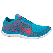Buy Nike Free 4.0 Flyknit Men's Running Shoes, Blue Online at johnlewis.com