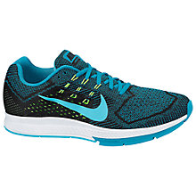 Buy Nike Air Zoom Structure 18 Men's Running Shoes, Blue/Black Online at johnlewis.com