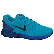 Buy Nike LunarGlide+ 6 Men's Running Shoes, Blue Lagoon/Tide Pool Blue Online at johnlewis.com
