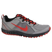 Buy Nike Wild Trail Men's Running Shoes, Grey/Red Online at johnlewis.com