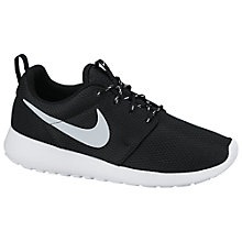 Buy Nike Roshe Run Women's Trainers, Black Online at johnlewis.com