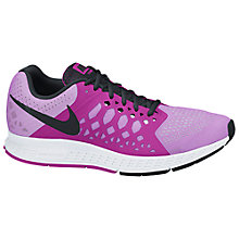 Buy Nike Air Zoom Pegasus 31 Women's Running Shoes, Fuchsia Glow/Black Online at johnlewis.com