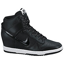 Buy Nike Dunk Sky Hi Women's Trainers, Black Online at johnlewis.com