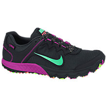 Buy Nike Zoom Wildhorse 2 Women's Running Shoes, Black/Pink/Green Online at johnlewis.com