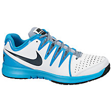 Buy Nike Air Vapor Court Tennis Shoes, White/Blue Online at johnlewis.com