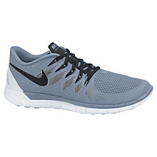 Buy Nike Free 5.0+ Running Shoes, Grey/Black Online at johnlewis.com