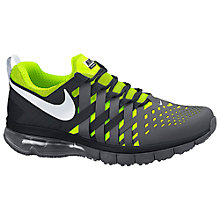Buy Nike Fingertrap Max Men's Cross Trainers, Grey/Volt Online at johnlewis.com
