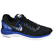 Buy Nike LunarEclipse 5 Men's Running Shoes, Black/Lyon Blue Online at johnlewis.com