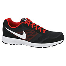 Buy Nike Relentless 4 Men's Running Shoes, Black/White Online at johnlewis.com