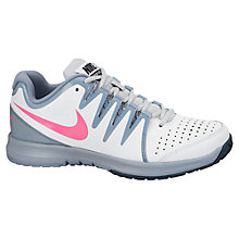 Buy Nike Air Vapor Court Women's Tennis Shoes, White/Grey Online at johnlewis.com