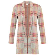 Buy Miss Selfridge Brush Checked Duster Jacket, Multi Online at johnlewis.com