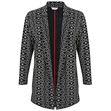 Buy Miss Selfridge Aztec Duster Jacket, Black Online at johnlewis.com