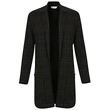 Buy Miss Selfridge Check Duster Jacket, Green Online at johnlewis.com