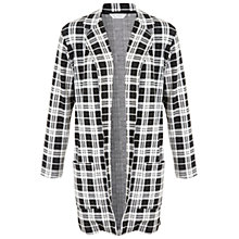 Buy Miss Selfridge Large Check Duster Jacket, Black / White Online at johnlewis.com