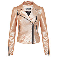 Buy Miss Selfridge Metallic Faux Leather Jacket Online at johnlewis.com