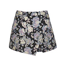 Buy Miss Selfridge Floral Jacquard Skort, Black Online at johnlewis.com