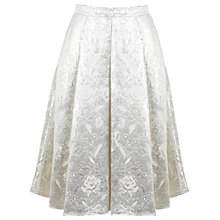 Buy Miss Selfridge Jacquard Midi Skirt, Cream Online at johnlewis.com