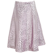 Buy Miss Selfridge Petite Metallic Midi Skirt, Purple Online at johnlewis.com