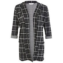 Buy Miss Selfridge Window Pane Duster Jacket, Dark Grey Online at johnlewis.com