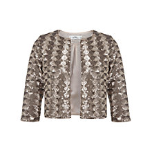 Buy Miss Selfridge Petite Sequin Jacket, Bronze/Gold Online at johnlewis.com