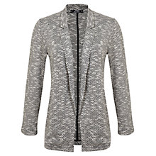 Buy Miss Selfridge Petite Mono Duster Jacket, Dark Grey Online at johnlewis.com
