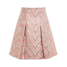 Buy Miss Selfridge Jacquard Skirt, Pink Online at johnlewis.com