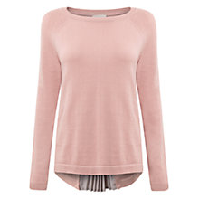Buy East Pleat Back Sweater, Pale Pink Online at johnlewis.com