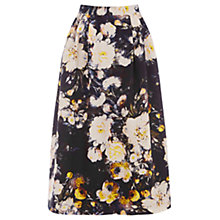 Buy Warehouse Rose Floral Midi Skirt, Multi Online at johnlewis.com