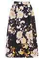 Warehouse Rose Floral Midi Skirt, Multi