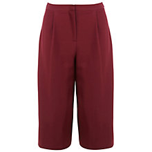 Buy Miss Selfridge Petite Culottes, Burgundy Online at johnlewis.com