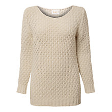 Buy East Basket Knitted Jumper, Ivory Online at johnlewis.com