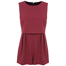 Buy Miss Selfridge Petite Playsuit, Burgundy Online at johnlewis.com