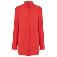 Buy Warehouse Double Layer Split Side Shirt, Red Online at johnlewis.com