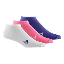 Buy Adidas Trainer Socks, Pack of 3, Pink/White/Purple Online at johnlewis.com