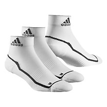 Buy Adidas Adizero Cushioned Ankle Socks, Pack of 2, White/Black Online at johnlewis.com