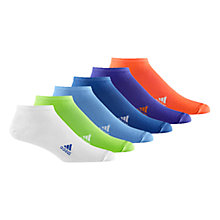 Buy Adidas Trainer Socks, Pack of 6 Online at johnlewis.com