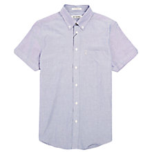 Buy Ben Sherman Short Sleeve Oxford Shirt, Classic Navy Online at johnlewis.com