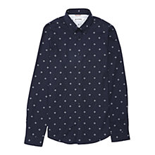 Buy Ben Sherman Geo Print Long Sleeve Shirt, Navy Blazer Online at johnlewis.com