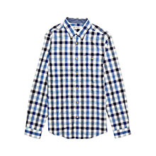 Buy Ben Sherman Gingham Long Sleeve Shirt, Royal Blue Online at johnlewis.com