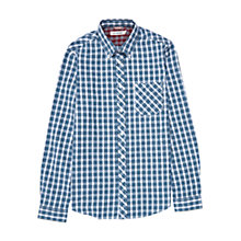Buy Ben Sherman Tartan Long Sleeve Shirt, Blue/White Online at johnlewis.com