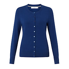 Buy John Lewis Crew Neck Cardigan, True Blue Online at johnlewis.com