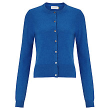 Buy Collection WEEKEND by John Lewis Crew Neck Cashmere Cardigan, Bright Blue Online at johnlewis.com