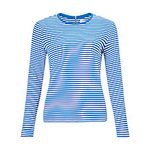 Buy Collection WEEKEND by John Lewis Zip Detail Breton Stripe Top Online at johnlewis.com