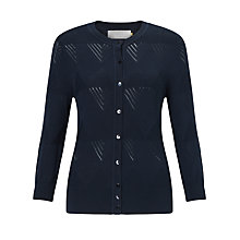 Buy Collection WEEKEND by John Lewis Pointelle Cardigan, Navy Online at johnlewis.com