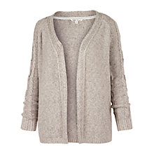 Buy Fat Face Cable Edge To Edge Cardigan, Ivory Online at johnlewis.com