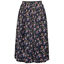 Buy Fat Face Midi Gypsy Floral Skirt, Phantom Online at johnlewis.com