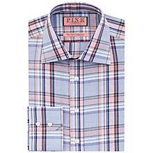 Buy Thomas Pink Kessel Check Shirt, Blue/Red Online at johnlewis.com