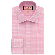 Buy Thomas Pink Turner Texture Slim Fit Shirt, Pink/White Online at johnlewis.com